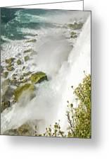 Niagara Falls On The Rocks Greeting Card