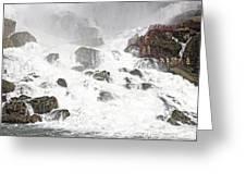 Niagara Falls Overlook Two Greeting Card
