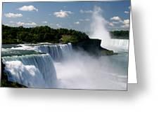 Niagara Falls Greeting Card by Sandy Fraser