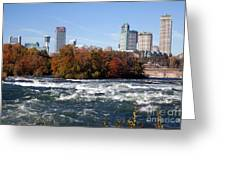 Niagara Falls Skyline From New York Greeting Card