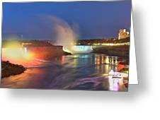 Niagara Falls Ultra Wide Panorama Greeting Card