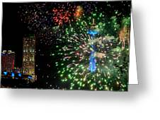 Niagara Fireworks 1 Greeting Card