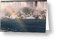 Niagara Rainbow Greeting Card