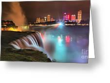 Niagara Starbust Skyline Panorama Greeting Card
