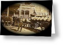 Niagra Carting Wagon Extras The Great White Hope Set Globe Arizona 1969-2014 Greeting Card