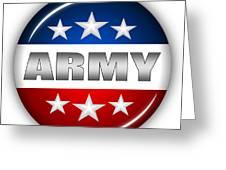 Nice Army Shield Greeting Card by Pamela Johnson