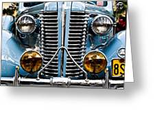 Nice Headlights Greeting Card by Merrick Imagery