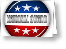 Nice National Guard Shield Greeting Card