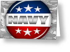 Nice Navy Shield 2 Greeting Card