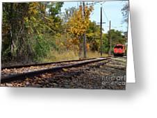 Nickel Plate Train Tracks Greeting Card