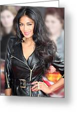 Nicole Scherzinger 21 Greeting Card by Jez C Self
