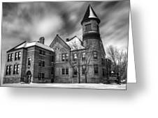 Nicolet School In Black And White Greeting Card