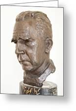 Niels Bohr Sculpture Greeting Card