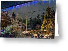 Night After The Ice Storm Greeting Card