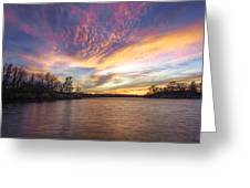 Night Approaches Greeting Card