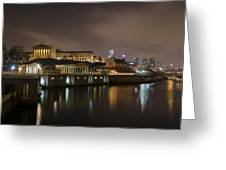 Night At Fairmount Waterworks And The Philadelphia Art Museum Greeting Card