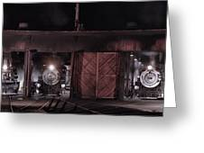 Night At The Durango Roundhouse Greeting Card