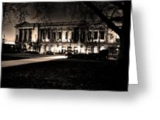 Night At The Library II Greeting Card
