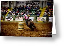 Night At The Rodeo V23 Greeting Card