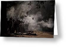 Night Battle Greeting Card
