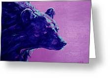 Night Bear Greeting Card