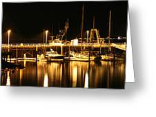 Night Boats Greeting Card by Melisa Meyers