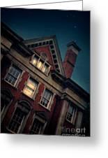 Night Building Greeting Card