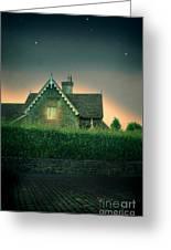 Night Cottage Greeting Card