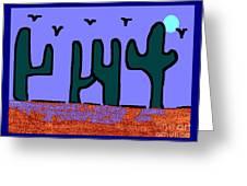 Night Desert Greeting Card
