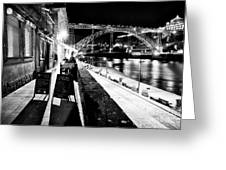 Night Dining In Porto Greeting Card