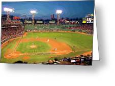 Night Fenway Pop Greeting Card