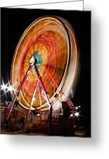 Night Ferris Wheel 3 Greeting Card