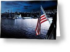 Night Flag Greeting Card