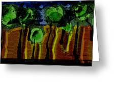 Night Forest Tapestry Greeting Card
