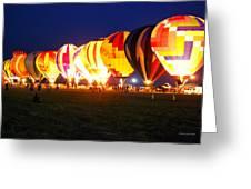 Night Glow Hot Air Balloons Greeting Card