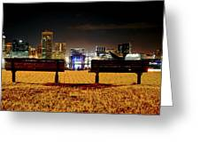 Night In The City Greeting Card