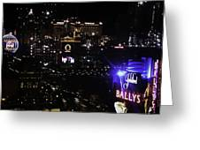 Night In Vegas 2008 Greeting Card