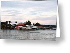 Night Is Coming At Bocas Greeting Card