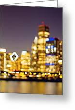 Night Lights - Abstract Chicago Skyline Greeting Card