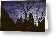 Night Lights Empire State Greeting Card