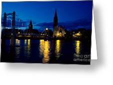 Night Lights In Inverness Greeting Card