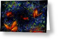 Night Of The Butterflies Greeting Card