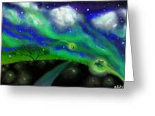 Night Of The Fireflies Greeting Card
