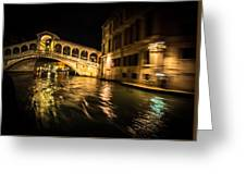 Night On The Grand Canal Greeting Card
