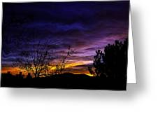 Night Paints The Sky Greeting Card