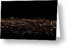 Night Panorama Of Cuenca Ecuador Greeting Card