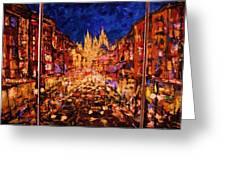 Night Prague Greeting Card