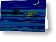 Night Reflections Greeting Card