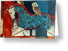 Night Riders Greeting Card by Jennifer Croom