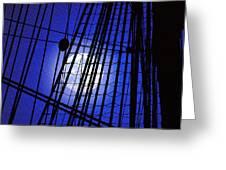 Night Rigging Greeting Card